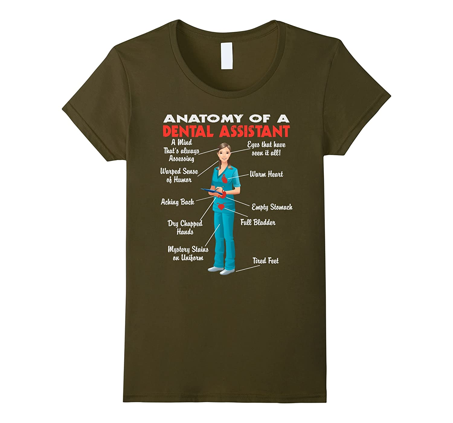 Amazon.com: Anatomy of a Dental Assistant - Funny Dental Assistant ...