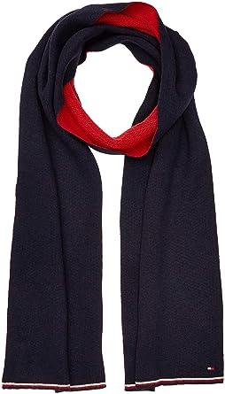 Tommy Hilfiger Double Sided Knit Echarpe, Bleu NavyTommy