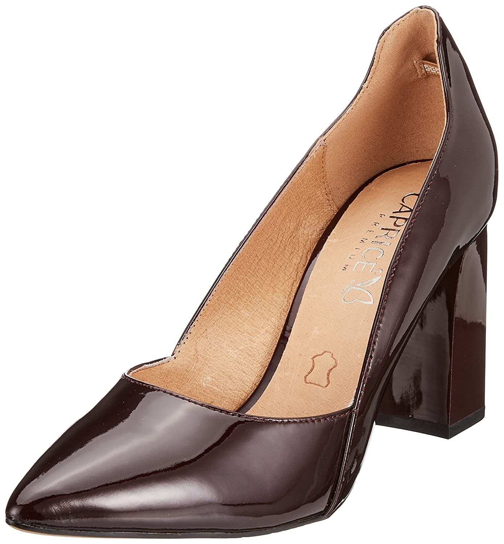 Caprice 22401, Zapatos de Tacón para Mujer 38.5 EU|Rojo (Bordeaux Pat. 541)