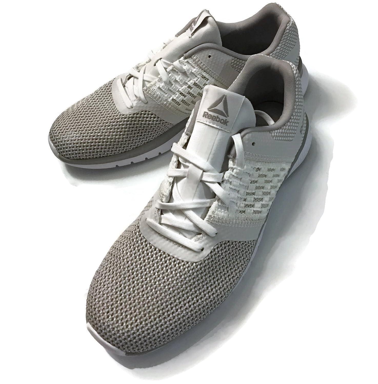 Reebok Women's B076DKYLBF Print Prime Runner Sneaker B076DKYLBF Women's 9.5 B(M) US|White/Steel b530b6