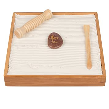 Desktop Zen Garden   Unique Play Sand For Shape Building And Relaxation    With Rake And
