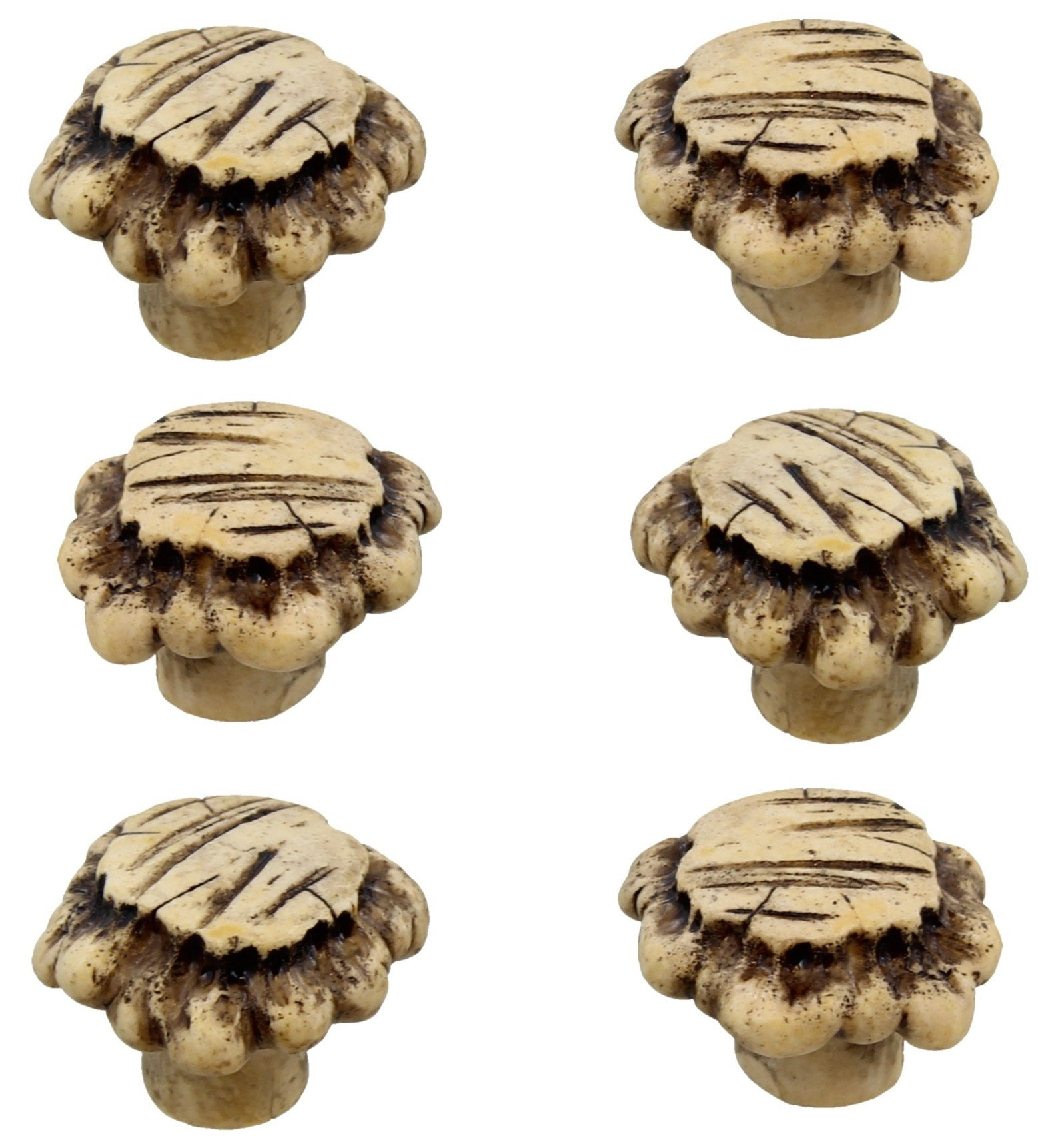 Rainbow Brand Heavy Duty Antler Drawer / Cabinet Pull Knob (6 Pack) by Colors of Rainbow
