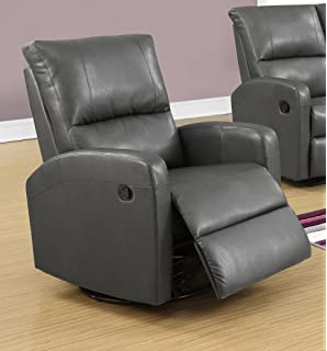 monarch recliner swivel glider charcoal grey
