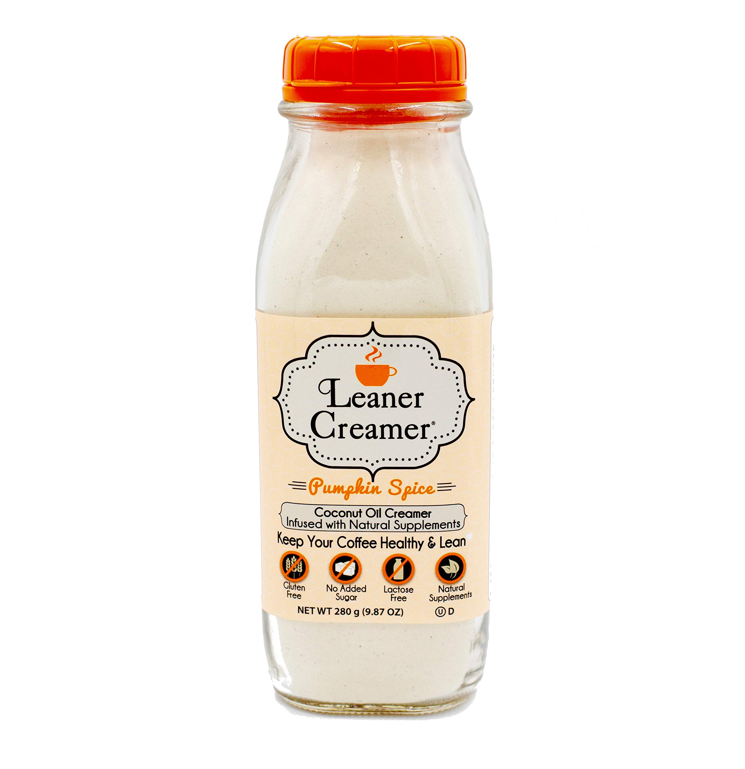 Leaner Creamer: The Lactose-Free All Natural Coffee Creamer Powder- A Healthy Complement for Coffee and Tea- May Promote Weight Loss and Suppress Appetite- Pumpkin Spice - 280Gr