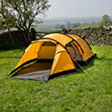 Snugpak Journey Quad Backpacking Tent, Sunburst Orange