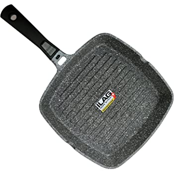 Coninx Grill Pan With Detachable Handle | 100% PFOA Free Square Griddle Pan | Nonstick Cookware for any Heat Source including Induction and Oven | 11-inch ...