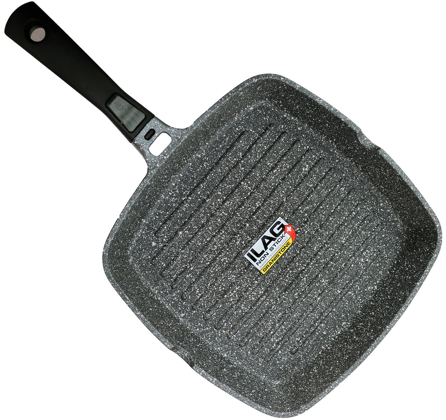Coninx Grill Pan With Detachable Handle | 100% PFOA Free Square Griddle Pan | Nonstick Cookware for any Heat Source including Induction and Oven | 11-inch | Dishwasher Safe
