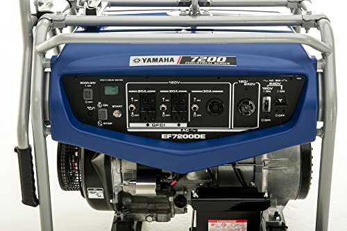 Yamaha EF7200DE, 6000 Running Watts 7200 Starting Watts, Gas Powered Portable Generator