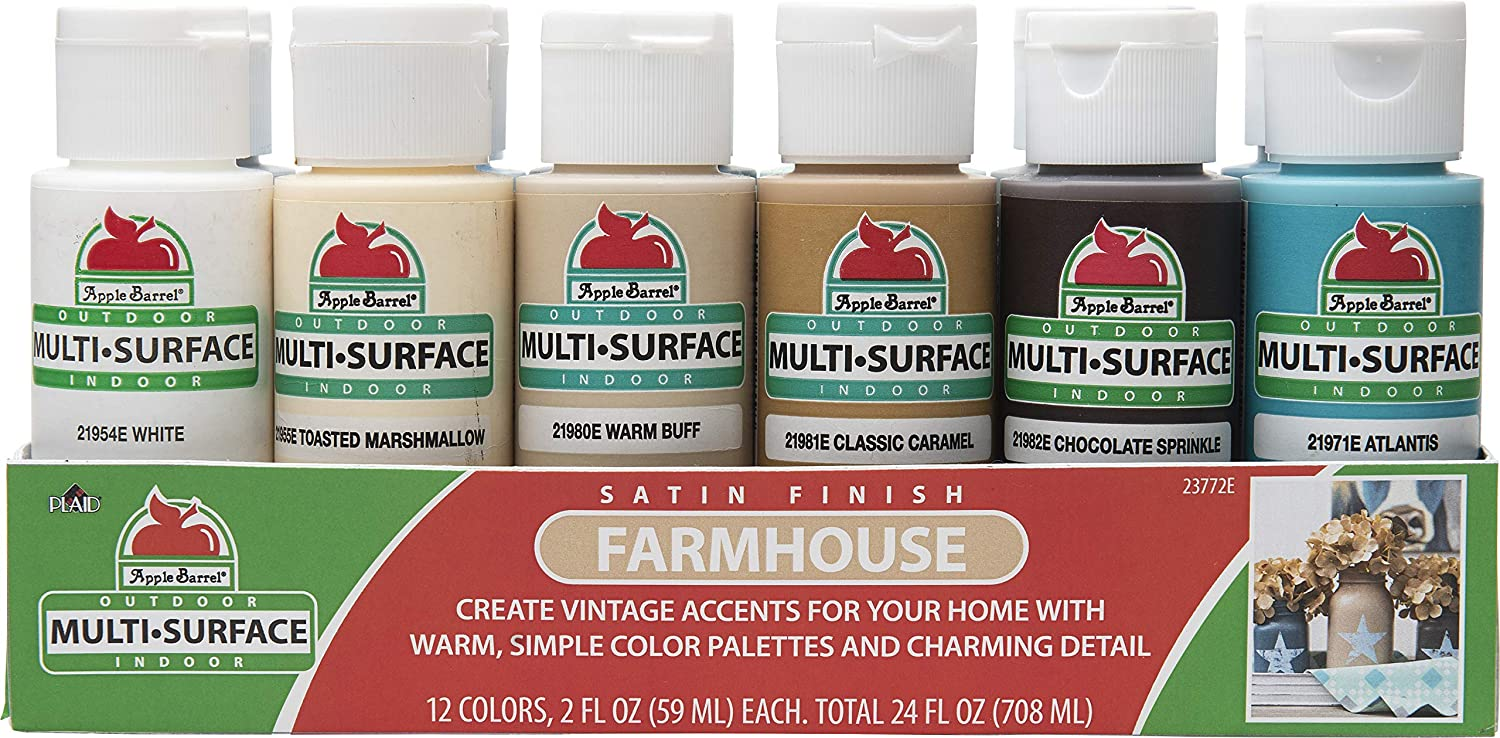 Apple Barrel Farmhouse Paint Set, 12