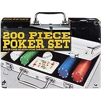 Cardinal Industries - Juego de Poker en portafolio de aluminio con 200 piezas
