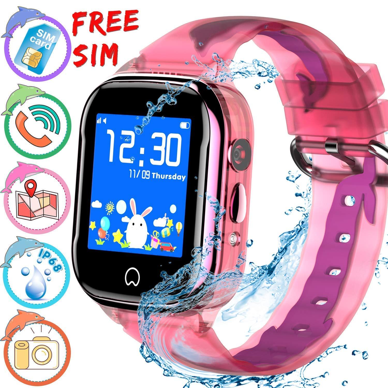 ONMET [SIM Incluida] Reloj inteligente para niños, resistente al agua, reloj gps niños, monitor de actividad física, SOS Calling, cámara de chat de ...
