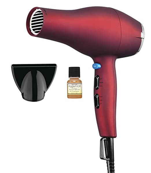 Infiniti Pro by Conair 1875 Watt Full Size Salon Performance AC Motor Styler / Hair Dryer; Soft Touch Red