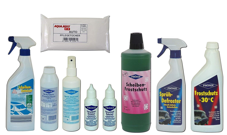Autopflege Pflege Set Winter Paket Enteiser Frostschutz Defroster Spray Auto PHÖNIX