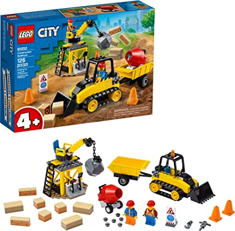 Bagged Blue Ocean LEGO City Construction Worker w// Bulldozer Foil Pack 952003