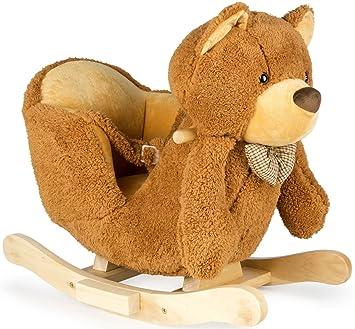 Schaukel Teddybar Schaukelpferd Kinder Plusch Schaukel Holz