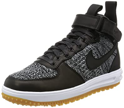 Nike Lunar Force 1 Flyknit Workboot Mens Boots c_855984 (10, BLACK/WHITE-