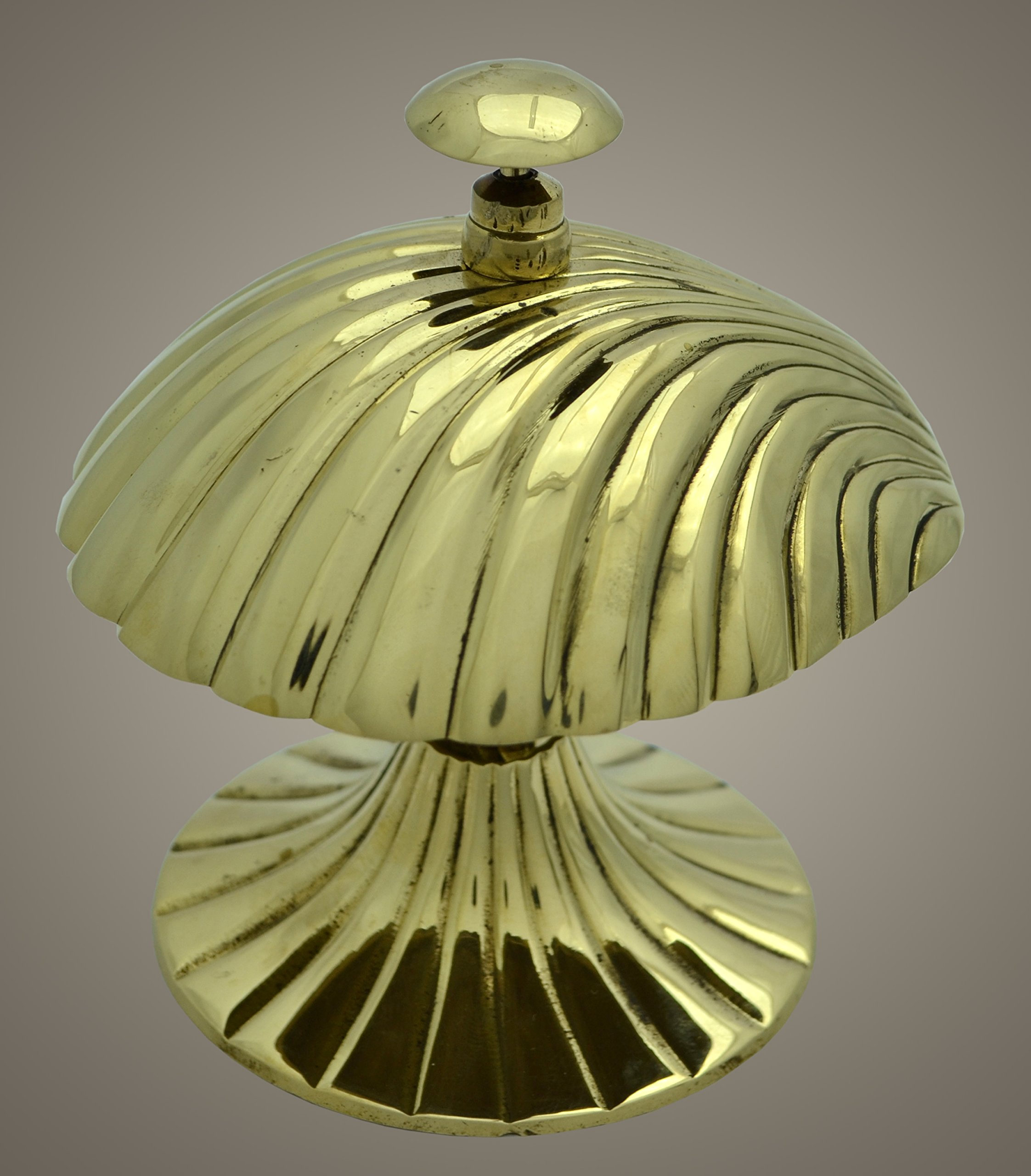 Brass Nautical Service Desk Bell Hotel Counter Table Bell 4inch Tall
