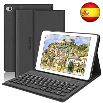 SENGBIRCH Funda con Teclado para iPad Mini 5 2019 Funda Ultrafino con Teclado Bluetooth Inalámbrico Español Compatible con 7.9 Pulgadas iPad Mini ...