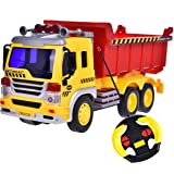 Remote Control Dump Truck Dirt Machine Construction Vehicle 1:16 With Light And Music Six Wheels Batteries Included