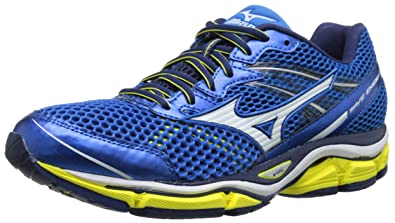 super popular 4bc69 7fed2 Mizuno Men s Wave Enigma 5 Running Shoe, Electric Blue Lemonade White, ...