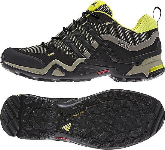 Adidas Men's Outdoor Terrex AX2R GTX Black Yellow Shoes