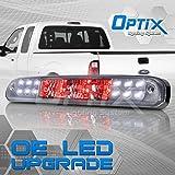 Rear LED 3rd Brake Light Cargo Lamp Assembly - 1999-2016 Ford F-250 F-350 / 1998-2010 Ford Ranger - Clear Lens Chrome Housing - 1pc