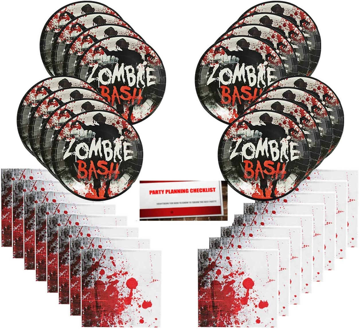 Zombie Paper Plates and Napkin Sets
