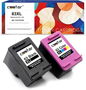 CSSTAR Remanufactured Ink Cartridges Replacement for HP 63 XL 63XL, (Black & Color, 2-Pack)