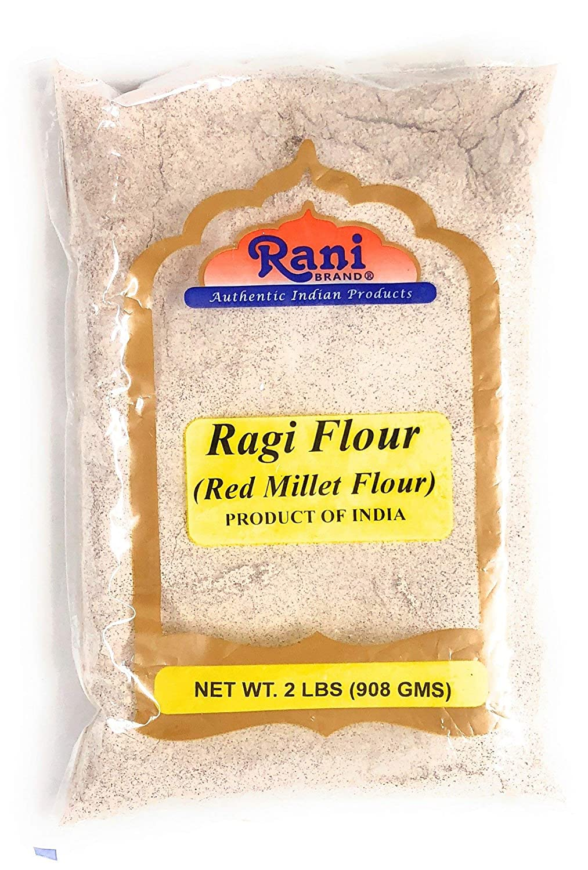 Rani Raggi Flour (Finger Millet) 2 Pound, 2lbs (32oz) Bulk ~ All Natural | Vegan | Gluten Friendly | NON-GMO | Indian Origin