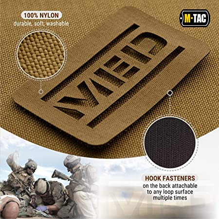 Amazon.com: M-Tac Morale Patch Med Tactical Patches Military Hook Fasteners Set of 2 (Coyote): Sports & Outdoors