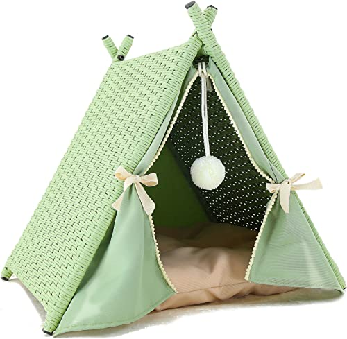 Azure Sky Cat House Tower Rattan Furniture Tent