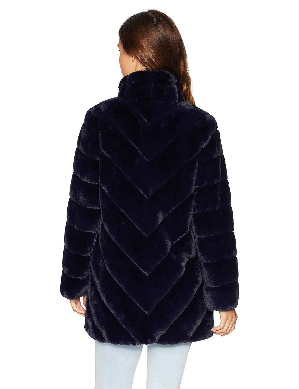 470b1b66e7dc Amazon.com  Nanette Lepore Women s Vegan Fur Coat  Clothing