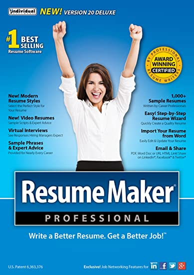 Amazon.com: ResumeMaker Professional Deluxe 20 [Download]: Software
