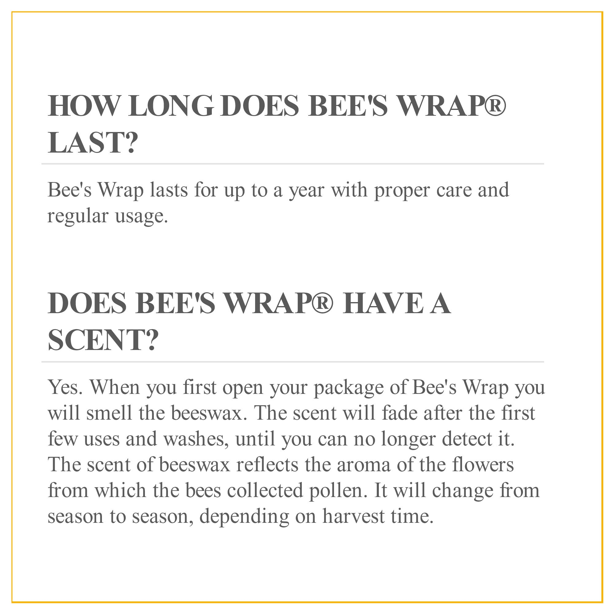 Bee's Wrap Assorted 3 Pack, Eco Friendly Reusable Food Wraps, Sustainable Plastic Free Food Storage, Honeycomb Print - 1 Small, 1 Medium, 1 Large by Bee's Wrap (Image #6)