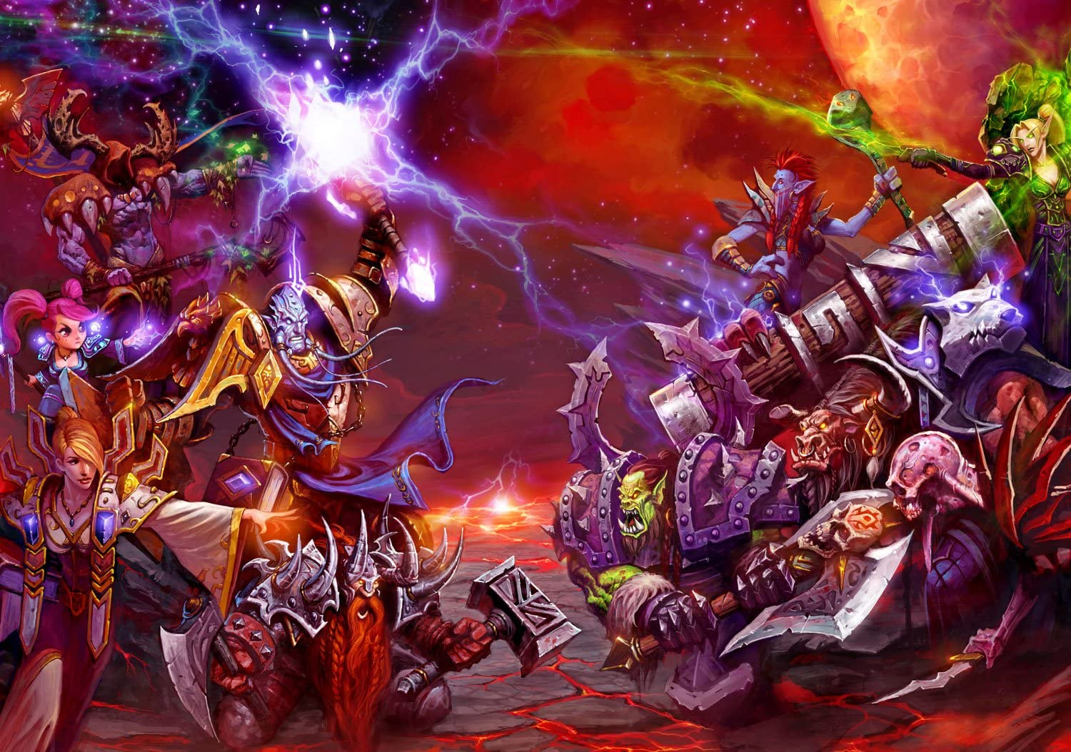 12/pages 20,3/x 27,9/cm 2019/Calendrier mural World of Warcraft Fantasy Fanart Jeu Wow G-201