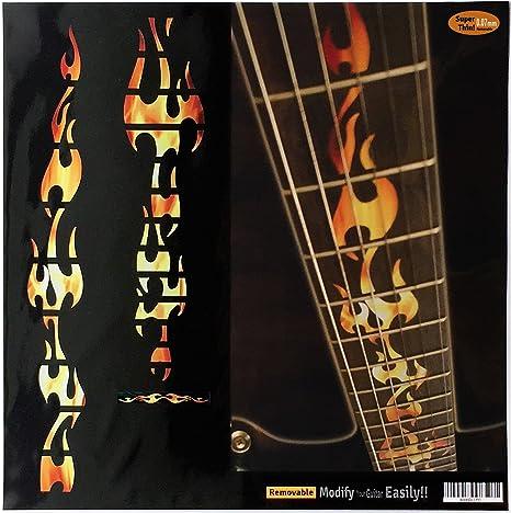 Diapasón marcadores Inlay adhesivo adhesivos para guitarra – fuego ...