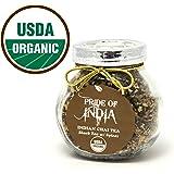 Pride Of India - Organic Indian Chai Tea, 2.25oz Gourmet Handmade Jar (Makes 40 Cups)