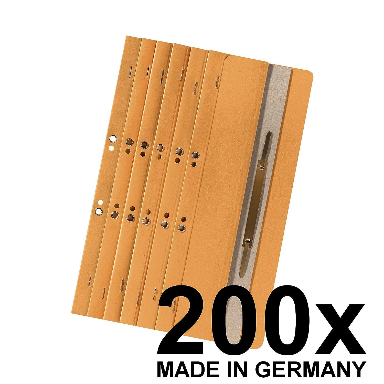 Made in Germany Original Falken 200er Pack /Ösenschmalhefter braun Aus Recycling-Karton kaufm/ännische Heftung und Beh/ördenheftung Einh/änge-Heftstreifen Aktenbinder Blauer Engel