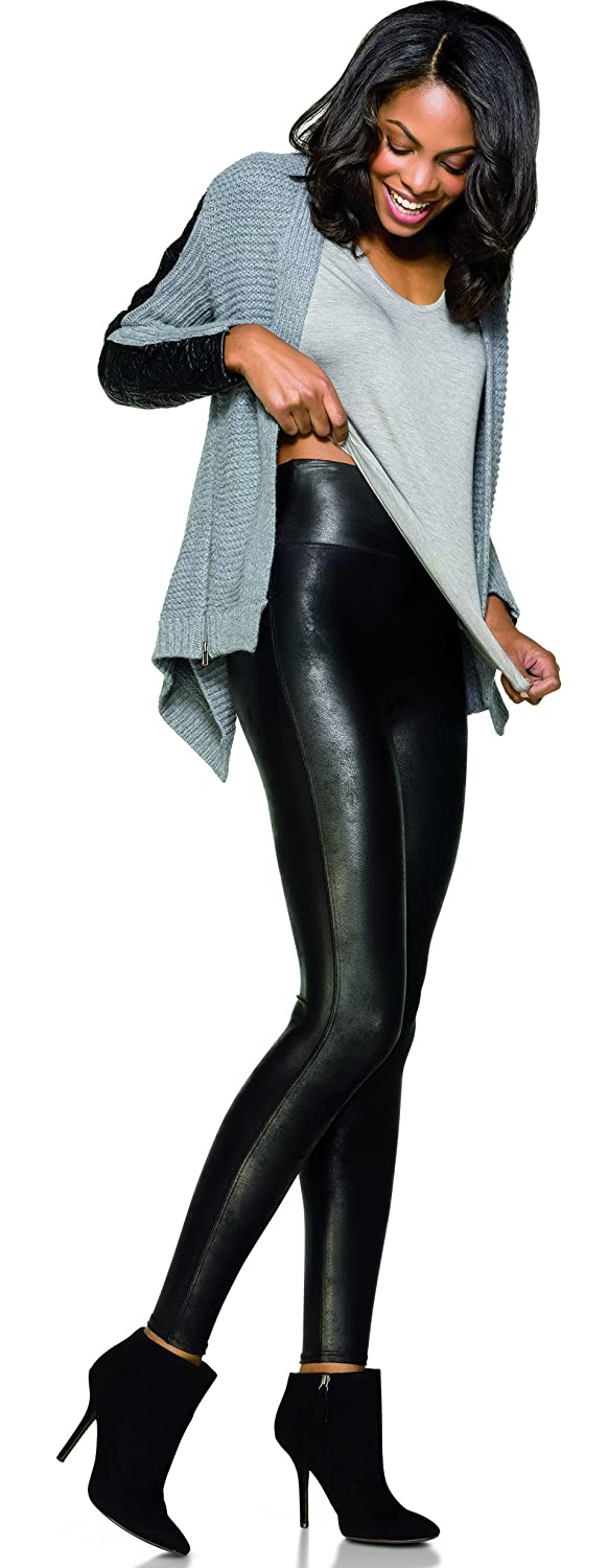 bf64cfd3368ac Spanx, Ready to Wow! Faux Leather Leggings, Black, X Large: Amazon.co.uk:  Clothing