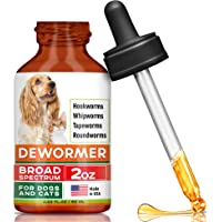 GOODGROWLIES Dew0rmer for Cats & Dogs - Made in USA Broad Spectrum Worm Treatment…