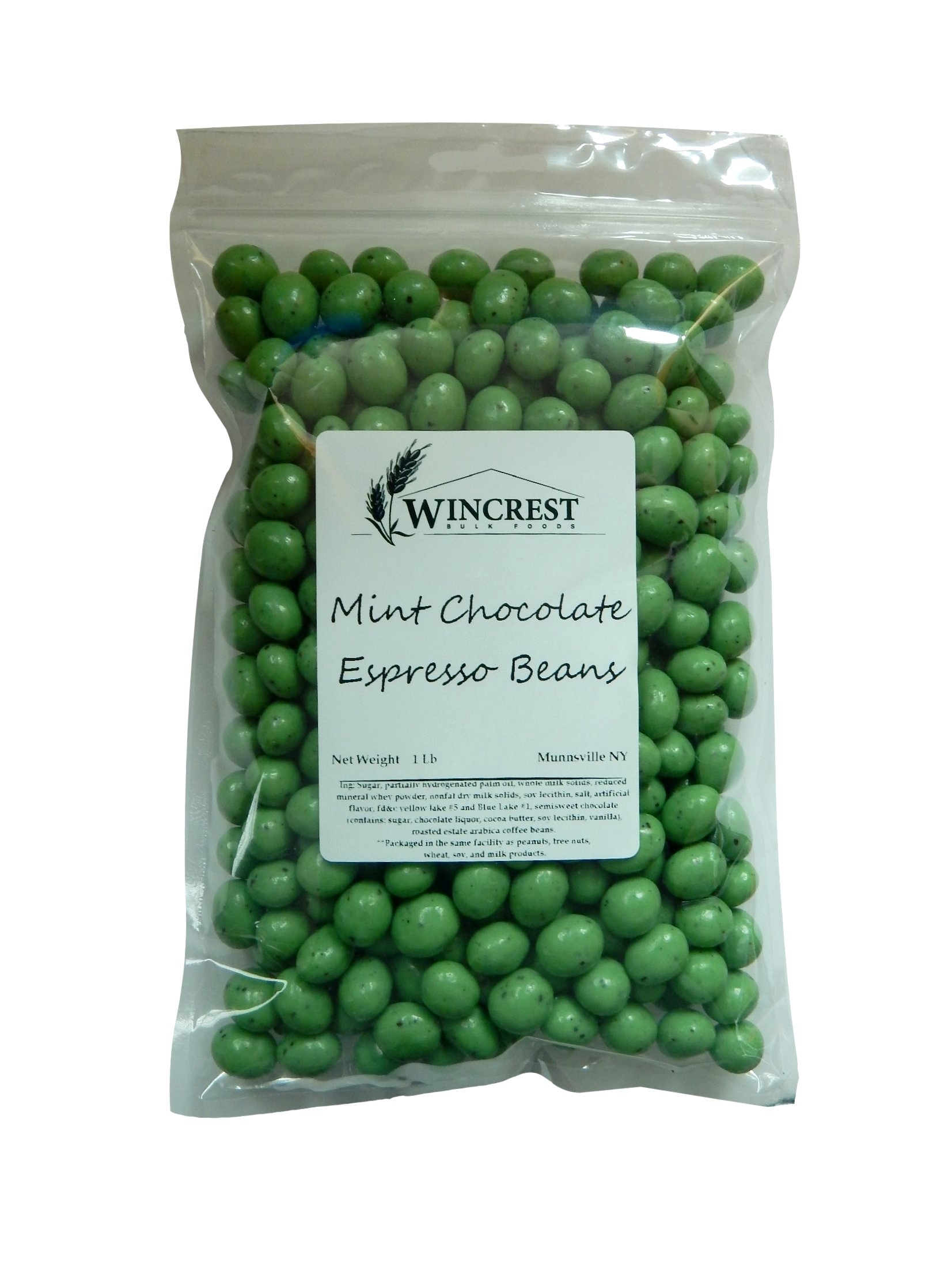 Green Mint Chocolate Espresso Beans - 1 Lb