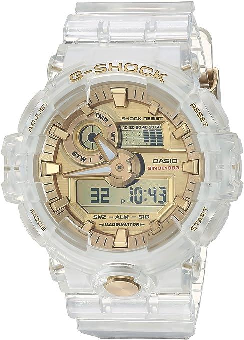 Casio G Shock Ga 735e 7acr Reloj De Pulsera Con Esqueleto Dorado Sports Outdoors