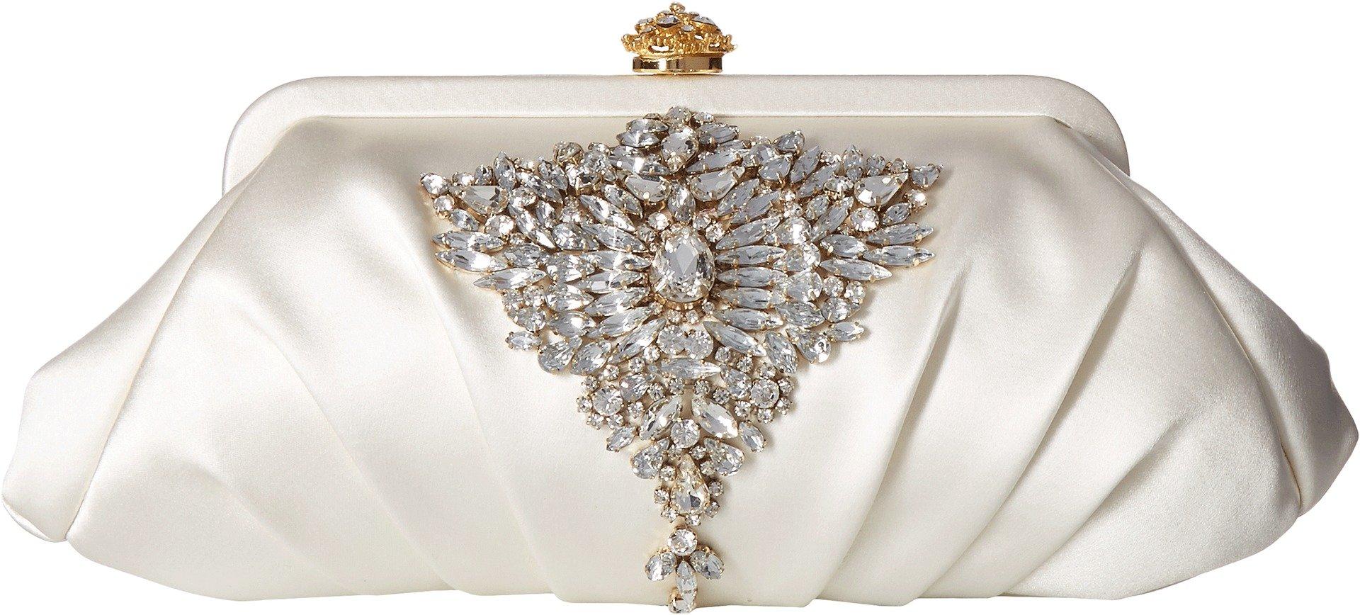 Badgley Mischka Women's Gem Clutch White One Size