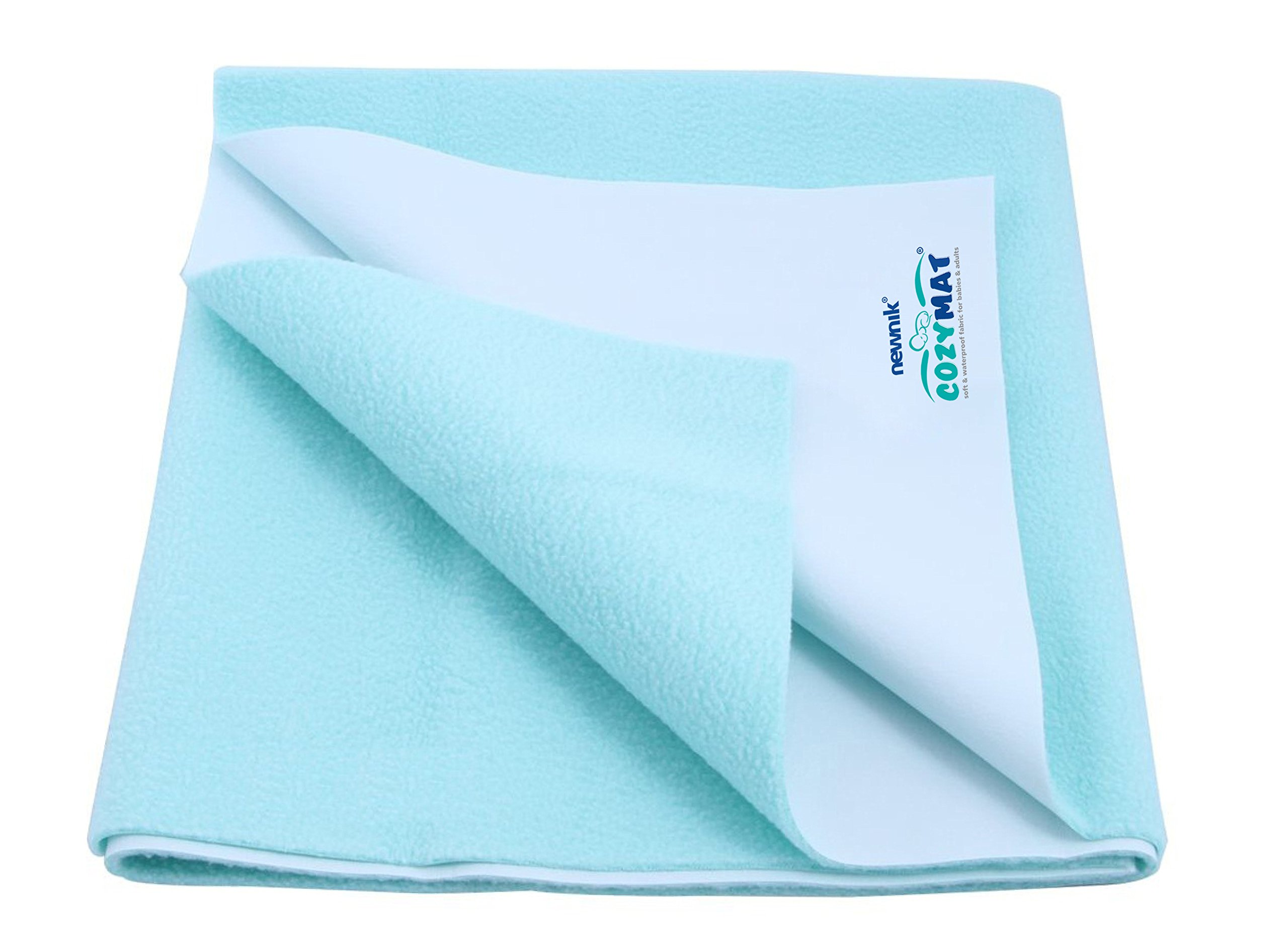 Cozymat Dry Sheet Waterproof Breathable Bed Protector (Size: 140cm X 100cm) Sea Green, Large by cozymat