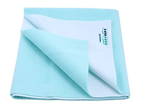 Size: 70cm X 100cm Cozymat Dry Sheet Waterproof Breathable Bed Protector Sky Blue Medium