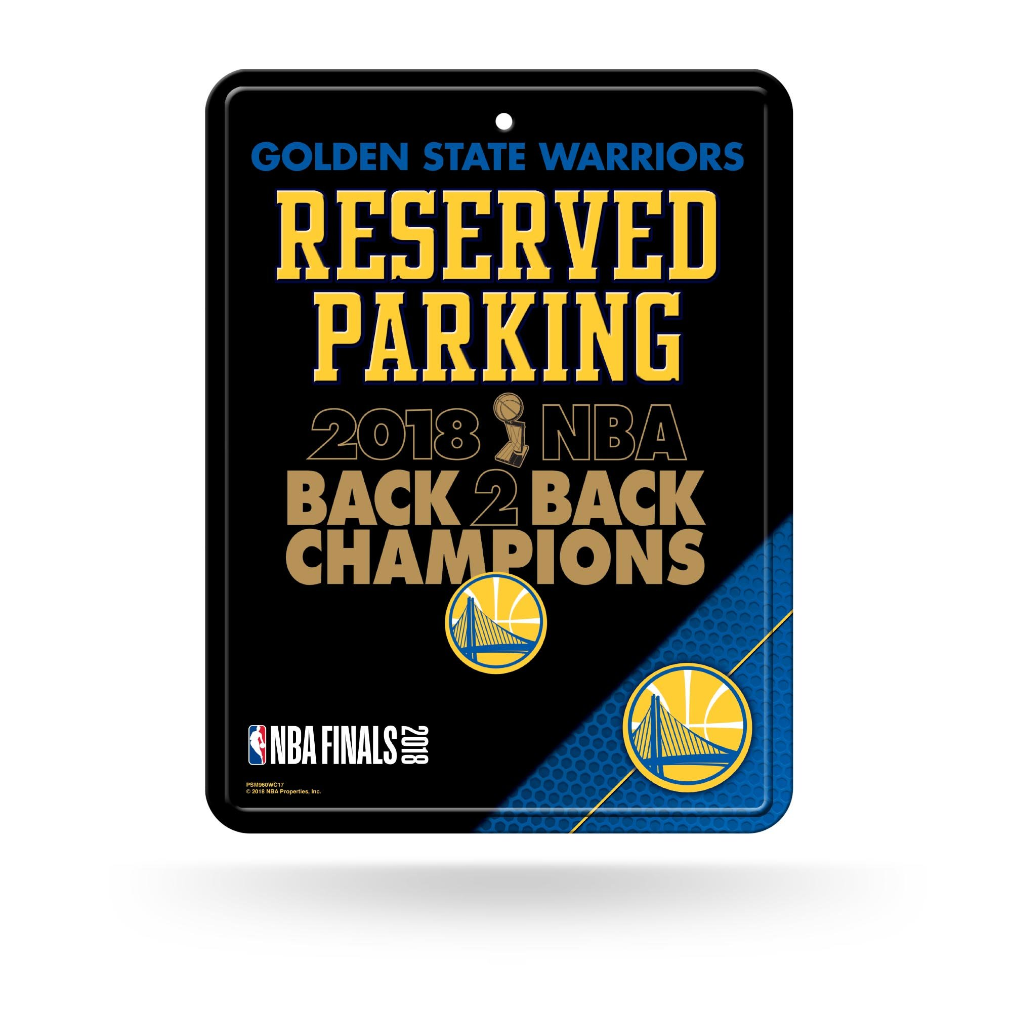Rico Industries NBA Golden State Warriors 2018 Basketball Champions 8-Inch by 11-Inch Metal Parking Sign Décor by Rico Industries