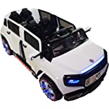 Two-Seater 4-Door Premium Ride On Electric Toy Car For Kids - 12V Battery Powered - LED Lights - MP3 - RC Parental Remote Controller - Suitable For Boys and Girls - White