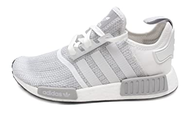 Adidas NMD R1 Mens In White/Grey, 7.5