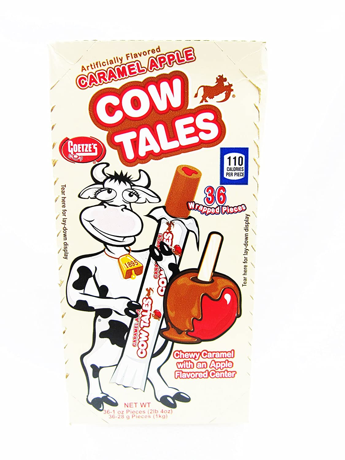 Goetze's Caramel Cow Tales, Apple, 36 Count