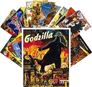Postcard Pack 24pcs Godzilla Vintage Movie Poster Kaiju Horror Monster